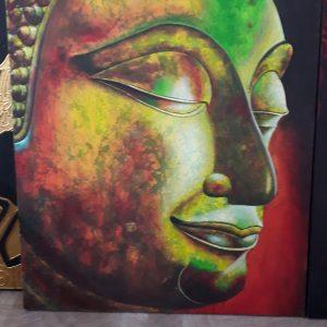 Buddhakopf Gemälde